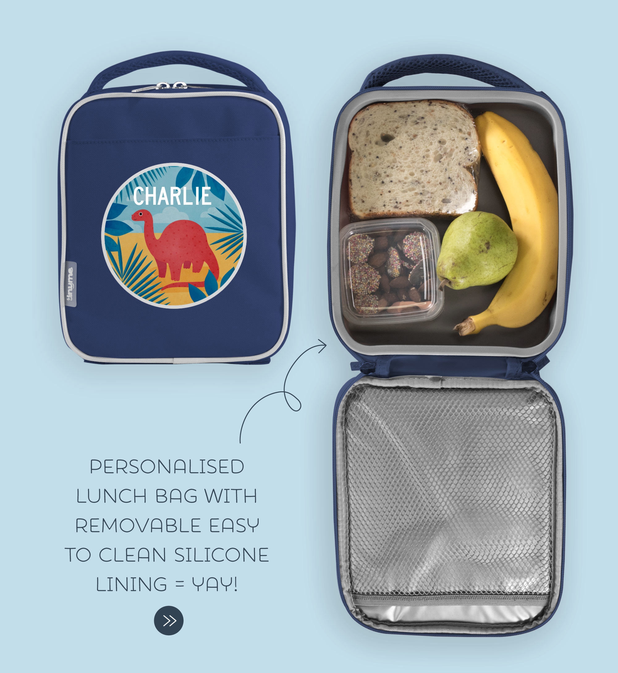 6902e1bb0cfd Personalised Lunch Bags for Kids - Tinyme Australia