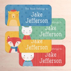 Tinyme School Book Labels