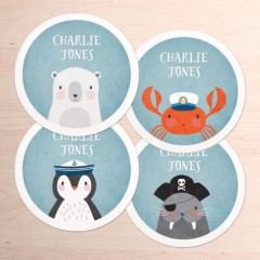 Large Round Name Labels