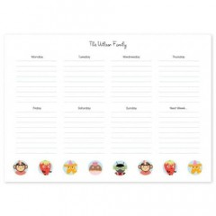 Tinyme Weekly Personalised Paper Planner