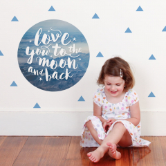 Moon Quote Wall Dot