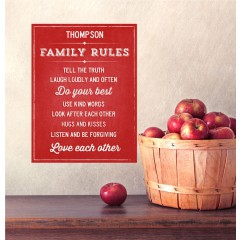 Family Rules Wall Decals