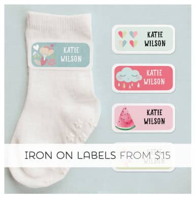 Super Cute Iron on Clothing Labels