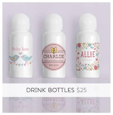 Personalised Drink Bottle... A bag's best friend!