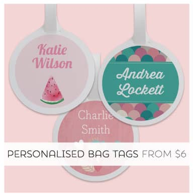 Shop Personalised Bag Tags