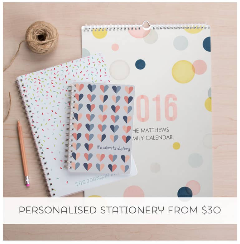Shop Personalised Stationery from Tinyme