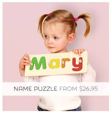 Tinyme Personalised Wooden Name Puzzle