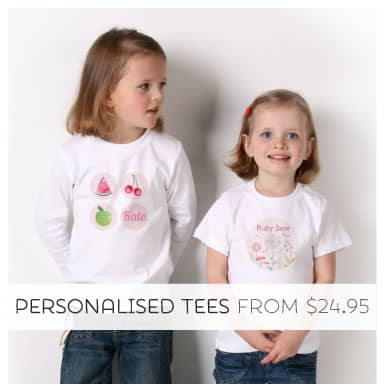 Shop Personalised Clothing from Tinyme