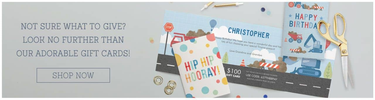 Not sure what to give? Look no further than our adorable gift cards!