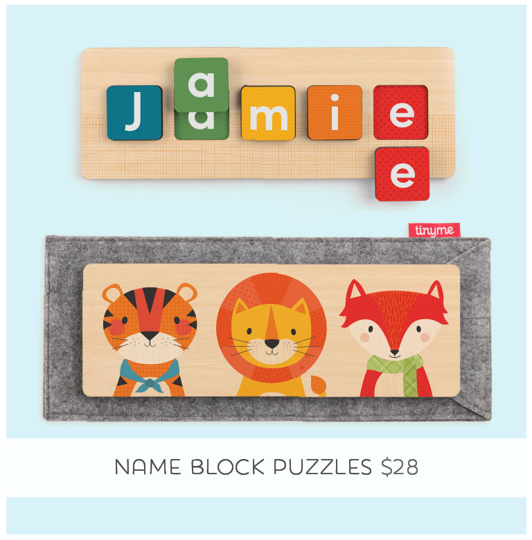 Shop Tinyme Wooden Name Block Puzzle
