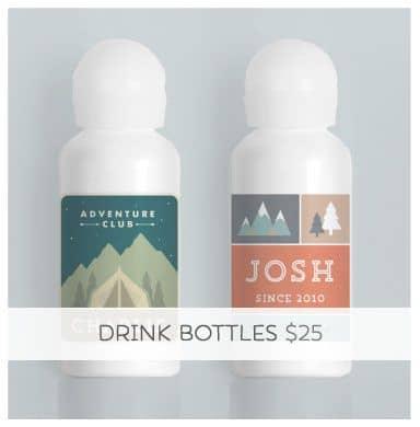 Personalized Drink Bottle... A bag's best friend!