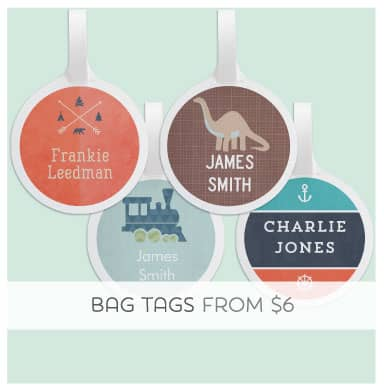 Give the Gift of cuteness with a Personalised Bag Tag