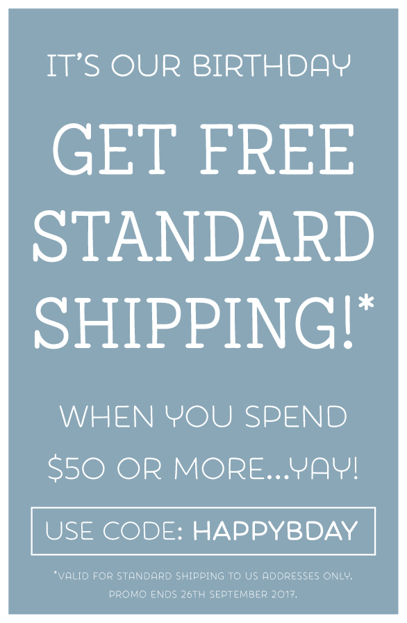 Celebrate Tinyme's 11th birthday with Free Standard Shipping on orders over $50