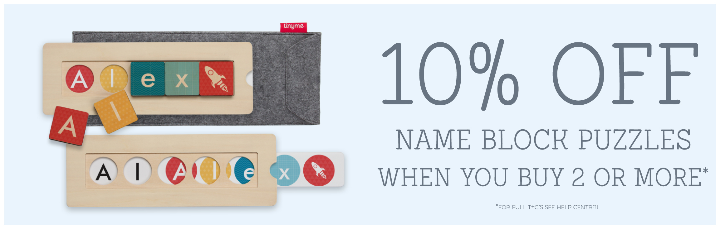 Save 10% when you buy 2 or more name block puzzles