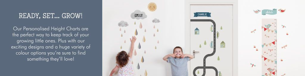 Ready, Set, Grow! Measure your child's height with Tinyme Height Charts