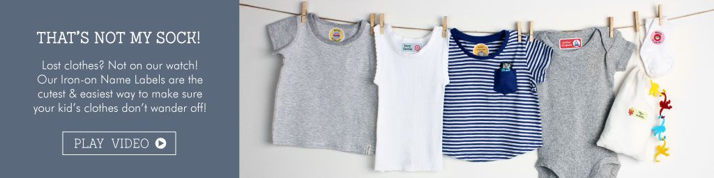 Tinyme Iron-On Clothing Name Labels
