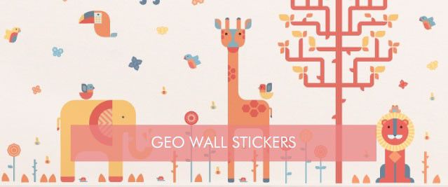 Geometric Wall Stickers from Tinyme