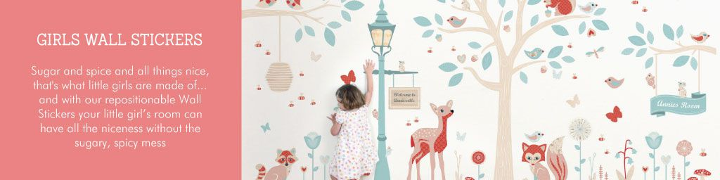 Girls Wall Stickers from Tinyme
