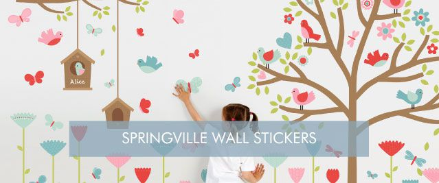 Springville Wall Stickers from Tinyme