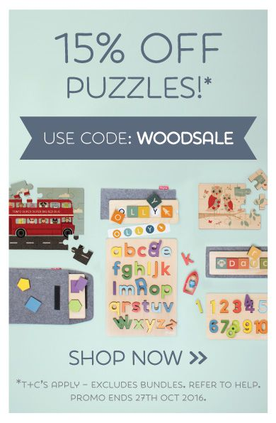 Is Wood Sale... Is Good Sale... SAVE 15% off Wooden Puzzles! (Excludes Bundles)