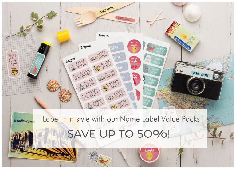Label it in style with our Name Label Value Packs - Save up to 50%!
