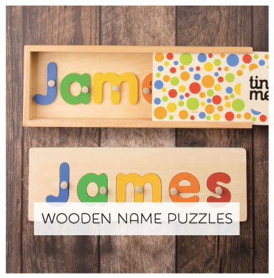 Is Wood. Is Good. Personalised Wooden Name Puzzle for kids.