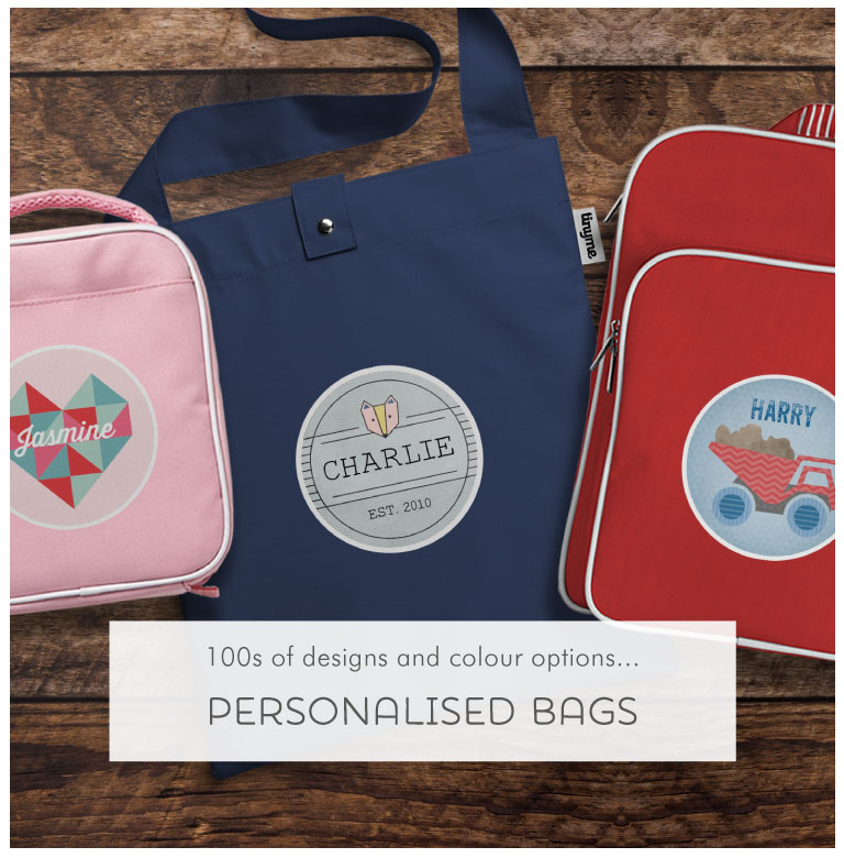 Stand out from the crowd with a Tinyme Personalised Bag