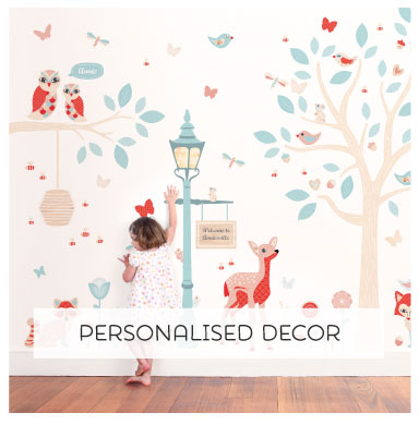 Cure Blank Wall Syndrome with our range of reposition-able fabric Wall Stickers